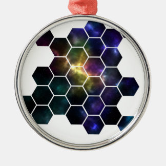 geometric space Silver-Colored round decoration