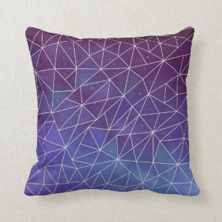 Geometric Space Throw Pillow