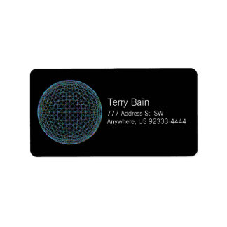 Geometric Sphere Address Label