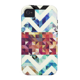 Geometric Squares and Triangles Vibe iPhone 4 Cover