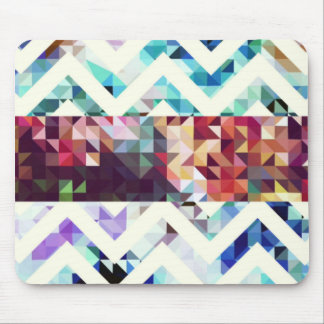 Geometric Squares and Triangles Mouse Pad