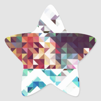 Geometric. Squares and Triangles. Star Sticker