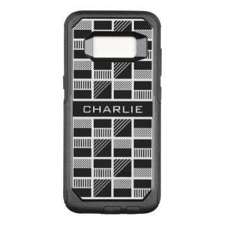 Geometric Squares custom monogram phone cases