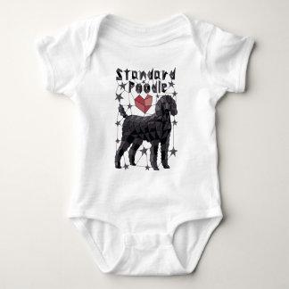 Geometric Standard Poodle Baby Bodysuit