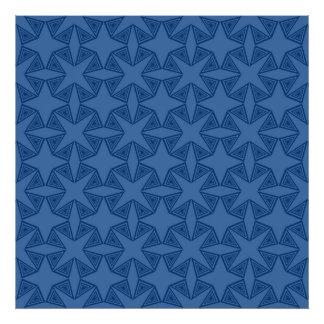 Geometric starry night pattern design photo