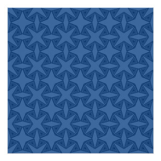 Geometric starry night pattern design photo print