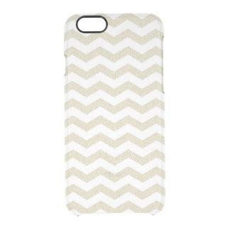 Geometric stripe chevron hipster zigzag pattern clear iPhone 6/6S case