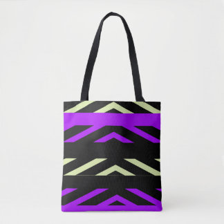 Geometric Stripes Tote Bag