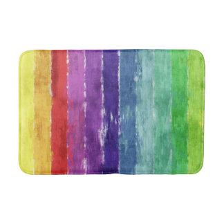 Geometric Stripes Watercolor Bath Mat