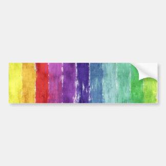 Geometric Stripes Watercolor Bumper Sticker