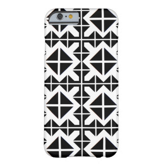 Geometric style black and white barely there iPhone 6 case