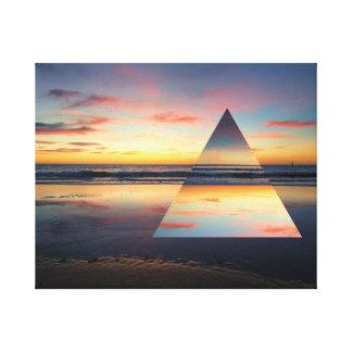 Geometric Sunset Glenelg Ocean Print Beach Sea