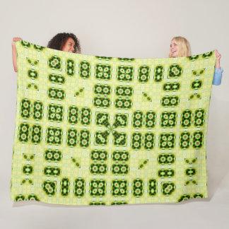 Geometric Sunshine Satin Mandala Fleece Blanket