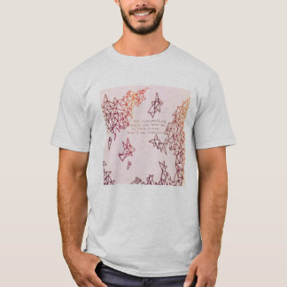 Geometric T-Shirt with Consciousness Quote