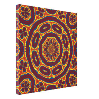 Geometric tapestry canvas print