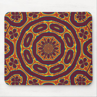 Geometric tapestry mouse pad