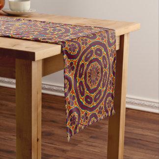 Geometric tapestry short table runner