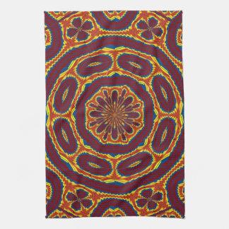 Geometric tapestry tea towel