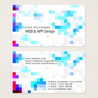 Geometric template pattern modern futuristic business card