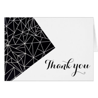 Geometric Thank You Cards - Unique, Cute