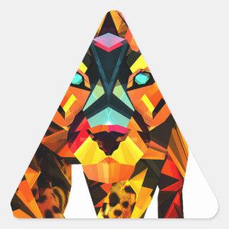 Geometric Tiger Prowl Triangle Sticker