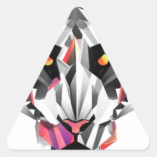 Geometric Tiger Triangle Sticker