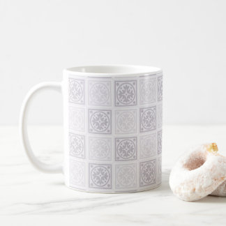 Geometric tile design coffee mug