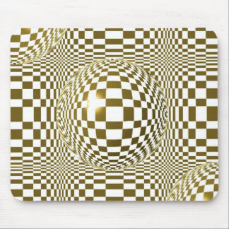 geometric tile mouse pad