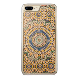 Geometric tile pattern, Morocco Carved iPhone 7 Plus Case