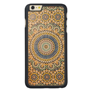 Geometric tile pattern, Morocco Carved Maple iPhone 6 Plus Case