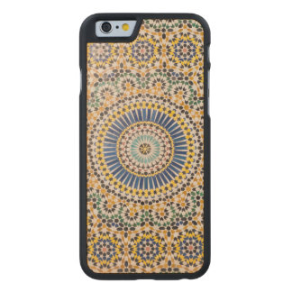 Geometric tile pattern, Morocco Carved® Maple iPhone 6 Slim Case
