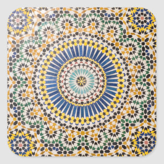 Geometric tile pattern, Morocco Square Sticker