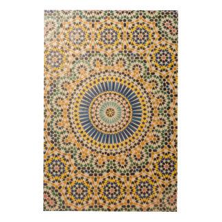Geometric tile pattern, Morocco Wood Wall Art