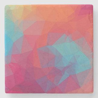 Geometric to pink_coaster stone beverage coaster