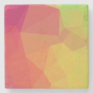 Geometric to pink_coaster stone coaster