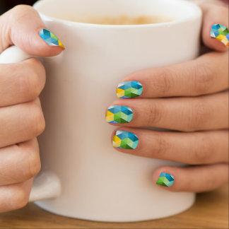 Geometric Trendy Triangles Pattern Minx Nail Art