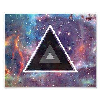 Geometric Triangle Galaxy Art Photo Print