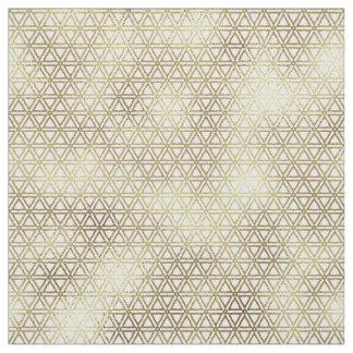 Geometric Triangles Gold Foil ID493 Fabric