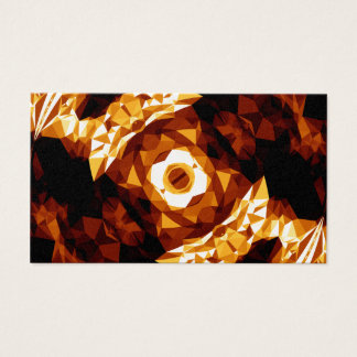 Geometric Triangles Orange Brown Black Abstract Business Card