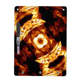 Geometric Triangles Orange Brown Black Abstract Dry Erase Board