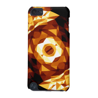 Geometric Triangles Orange Brown Black Abstract iPod Touch (5th Generation) Case