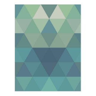 Geometric Triangles Postcard