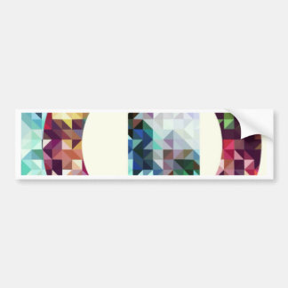 Geometric. Triangles + squares+ Cicles. Bumper Sticker