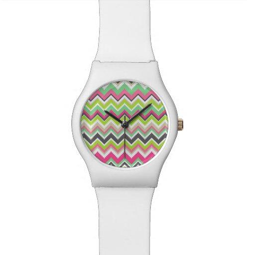 Geometric tribal aztec andes chevron zig zag print wrist watches