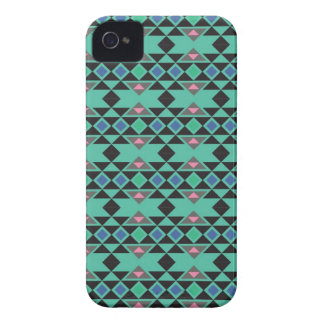 Geometric tribal aztec andes hipster teal pattern iPhone 4 cases