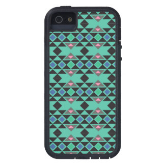 Geometric tribal aztec andes hipster teal pattern iPhone 5 covers
