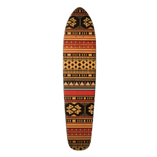 Geometric Tribal Pattern Graphic Design Bold Skateboard Deck