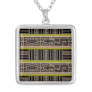 Geometric Tribal Pattern Graphic Vintage Bold Necklace
