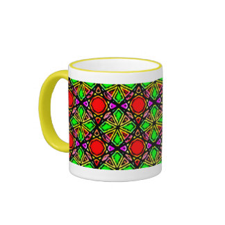 Geometric Tribal Sun Cupe Ringer Mug
