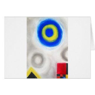 Geometric Trinity (Geometric expressionism) Greeting Cards
